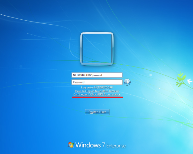 windows 7 resetting password